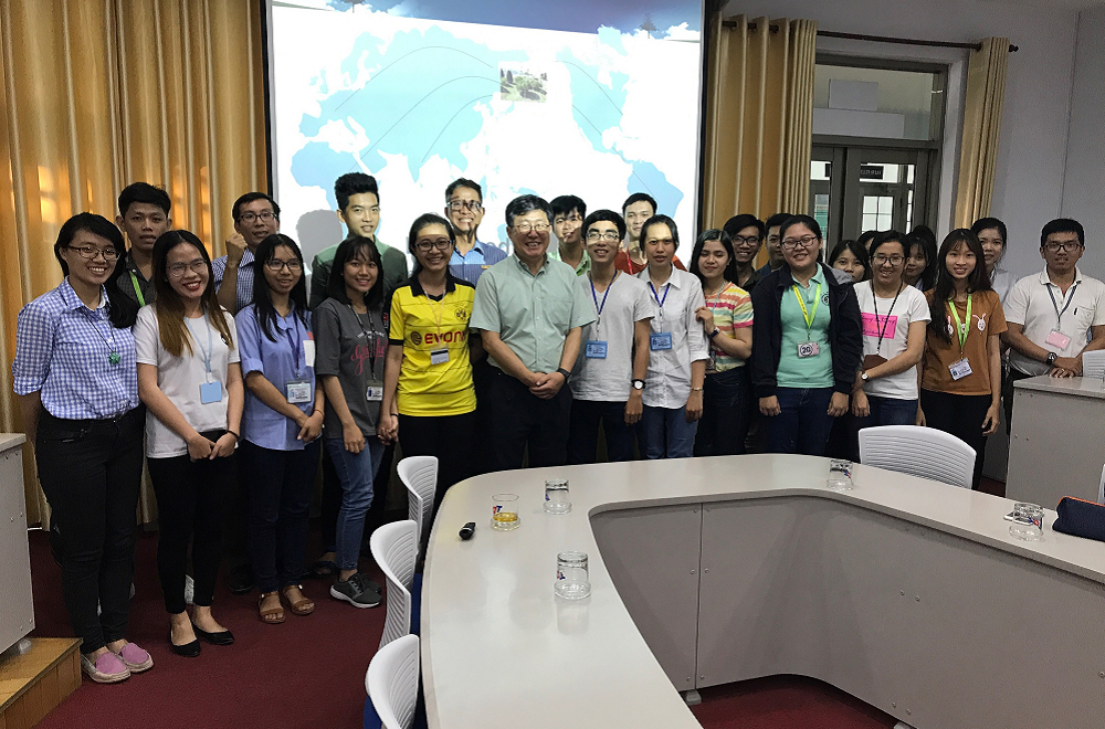 Seminar on rainwater harvesting capacity in Ho Chi Minh city and technology of collecting and using rainwater at TDTU (September, 2017)
